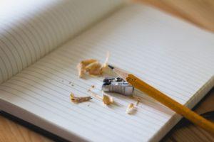 crayon sur un cahier
