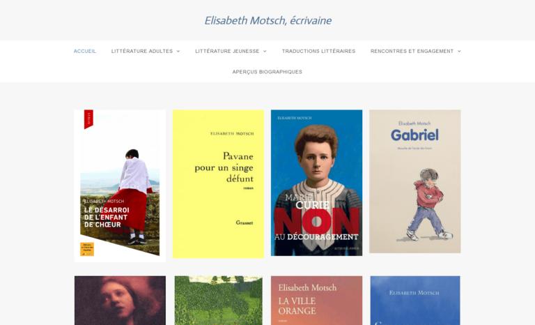 Site d'Elisabeth Motsch, écrivaine