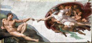 Le doigt de Dieu créateur de Michelange