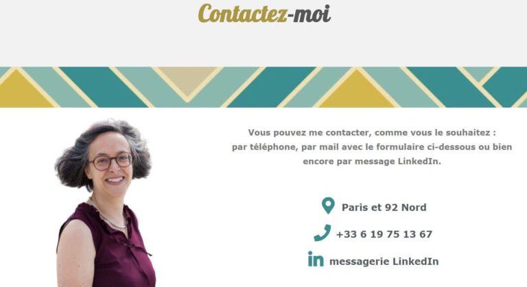 Portrait de Sylvie Massey sur sa page contact