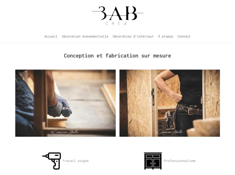 Le site de 3AB CREA fait par 2CA Web