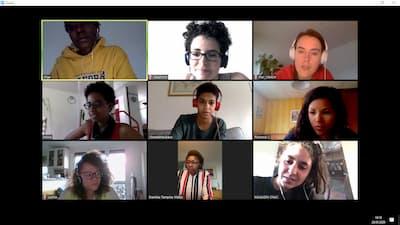 capture d'écran d'une réunion avec les vidéos de chacun