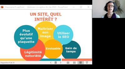 Capture d'écran d'un webinaire de 2CA Web