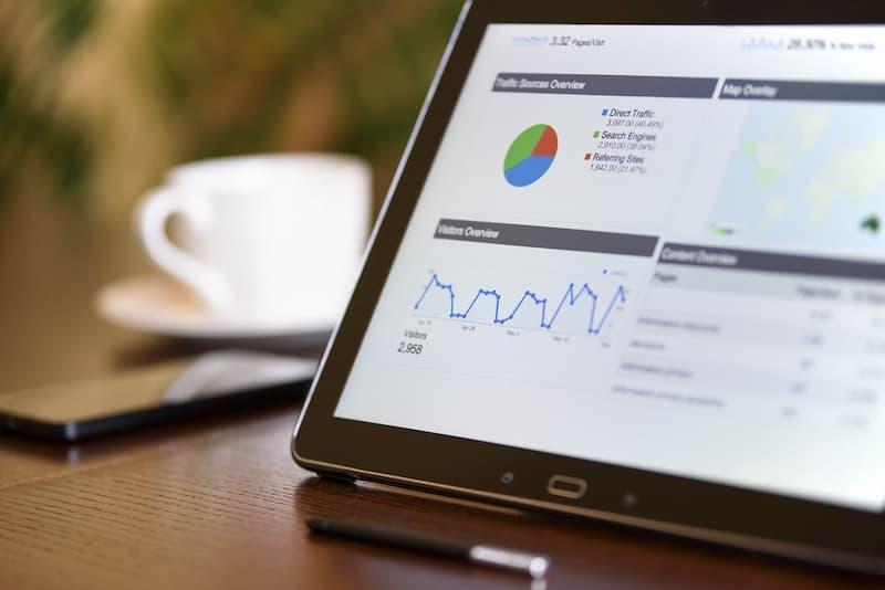 Graphiques de statistiques et de données SEO