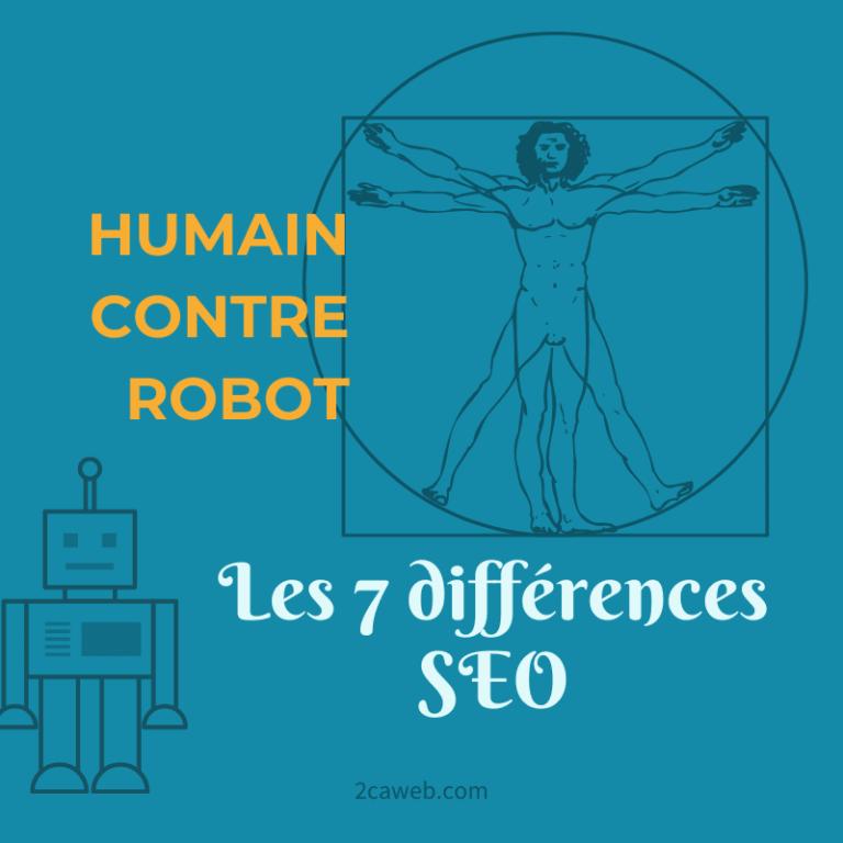 Humain contre robot : les 7 différences SEO